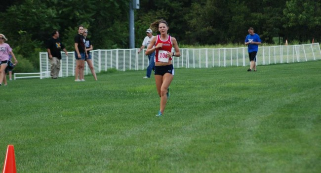 Goffinet running last cross country season  Photo courtesy of Goffinet