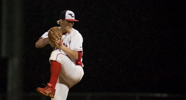 Jonathan Wandling pitching for the Screaming Eagles last season.   Photo courtesy of Photo Services.