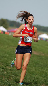 Goffinet running during last cross country season.   Photo courtesy of goffinet