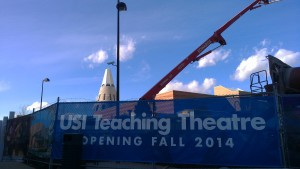 Construction of USI's teaching theatre is ongoing and expected to be completed in Fall 2014.