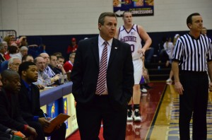 USI Head Coach Rodney Watson watches his team last season in game against McKendree.